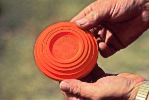 Clay target for shotgun shooting practice