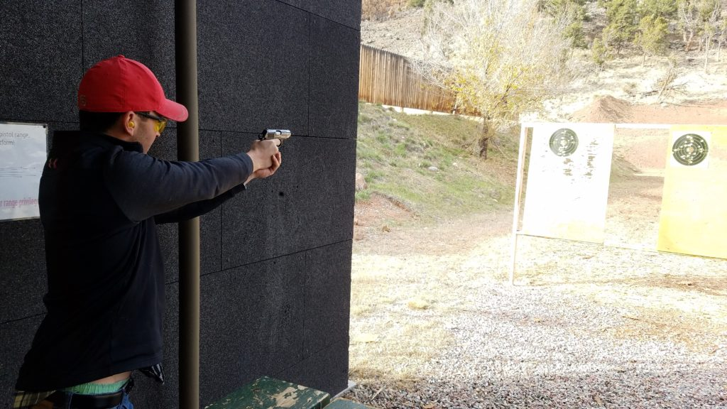 Firearms target practice - Walther PPK