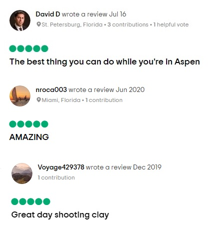 Testimonials for Aspen Shooting