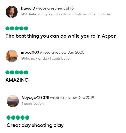 Testimonials for Aspen Shooting