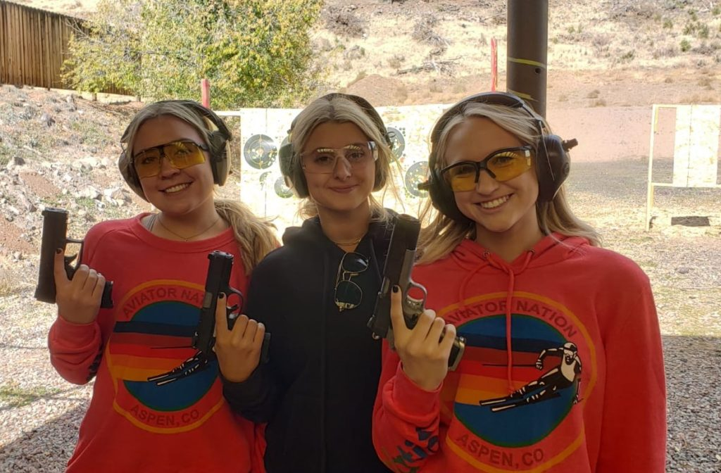 Safe instruction for women shooters at the pistol range
