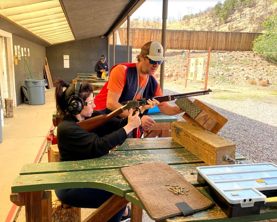 Rifle target practice with a certified instructor