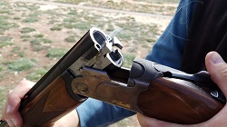 Private Shotgun field shooting clay targets