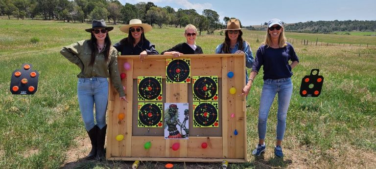 Ladies pistol qualifying target practice