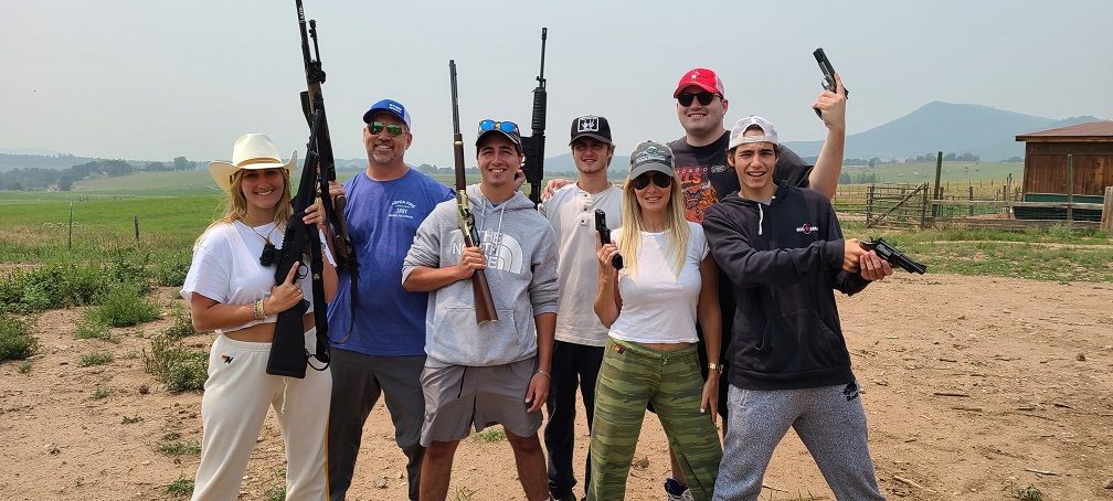 Family pistol rifle shooting experience at private Carbondale ranch