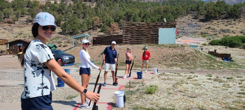 Family fun on the trap field in Basalt CO